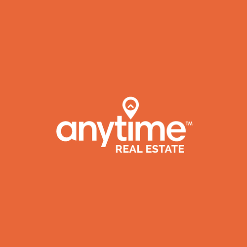 Orange logo with the title 'Anytime Real Estate Logo'