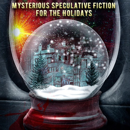 X-mas design with the title 'Book cover for sci fi mystery '
