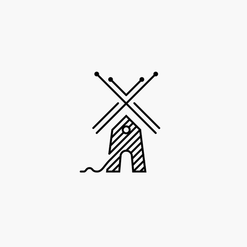 Line art logo with the title 'Logo for yarn manufacturer '
