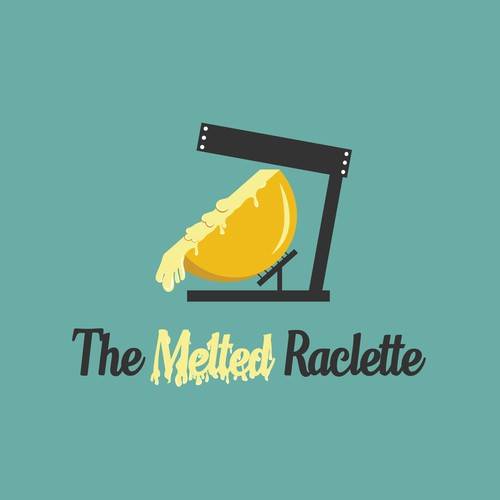 Melting logo with the title 'The Melted Raclette'