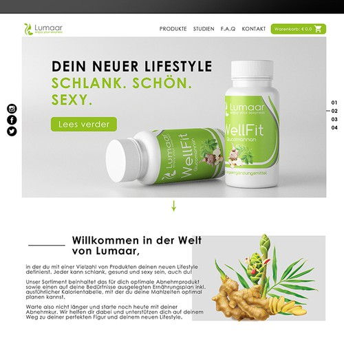 Wellness website with the title 'Website redesign'