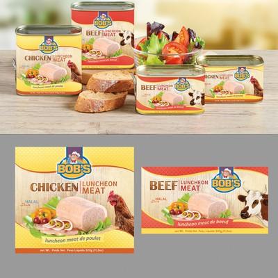 Bob's, chicken & beef luncheon meat