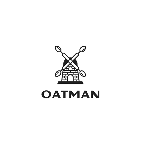Spoon logo with the title 'Elegant logo for oatmeal product line'