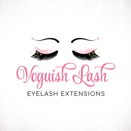 Sparkle design with the title 'Eyelash Extensions Logo Design'