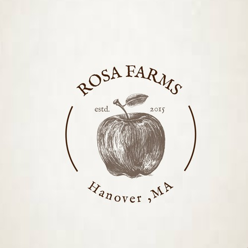 Apple design with the title 'Organic logo for a Farmers Market'