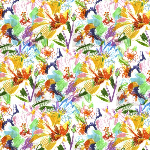 Swimsuit design with the title 'Swimwear Tropical Print Pattern'
