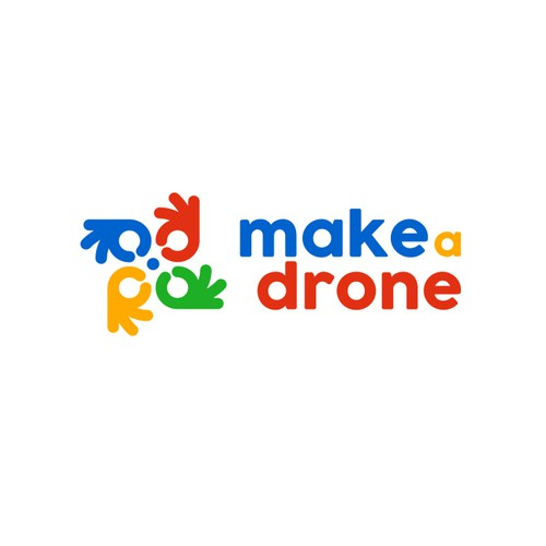 Children's design with the title 'Make a Drone'