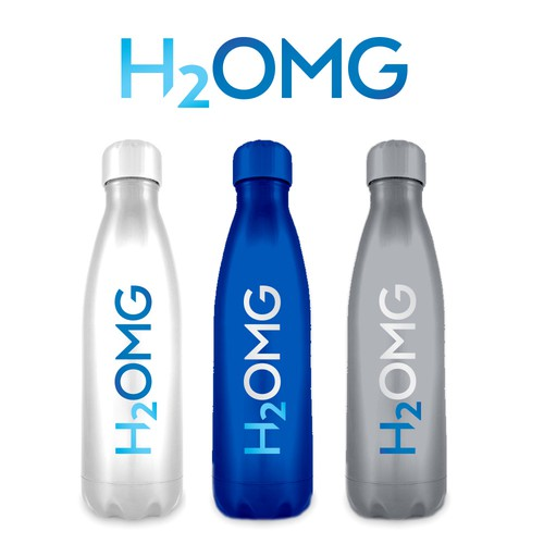 Type design with the title 'H2OMG'