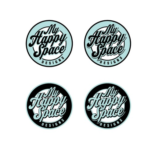 50s logo with the title 'happy space Designs'