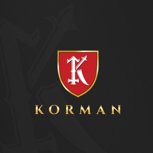 Emblem brand with the title 'Logo design for Korman LLC'