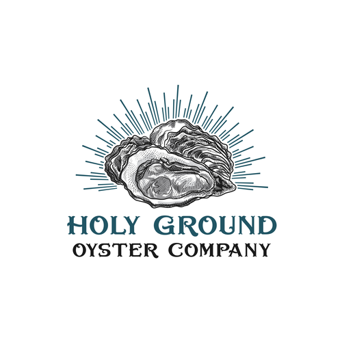 Oyster logo with the title 'Holy Ground Oyster Company '