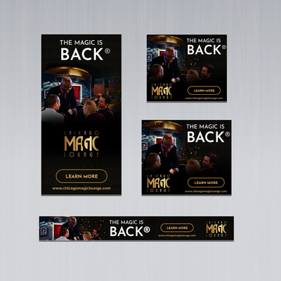 HTML5 Animated Banners- Chicago Magic Lounge