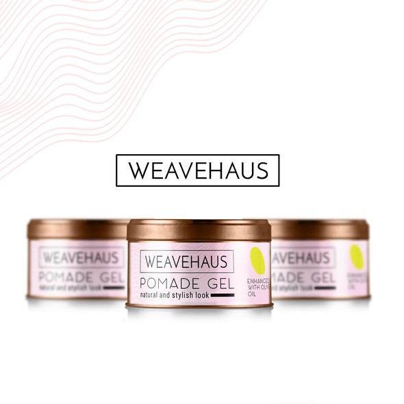 Gel design with the title 'Weavehaus pomade gel'