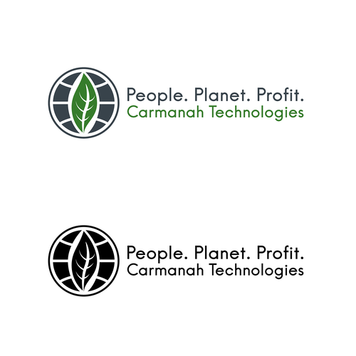 Globe design with the title 'Logo for Carmanah Technologies'