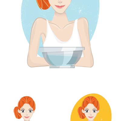 Woman Illustration for skincare product