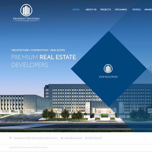 Construction website with the title 'Property Ventures'