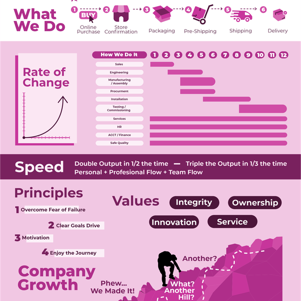 Infographic illustration with the title 'Infographic'