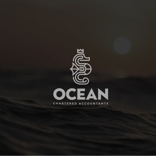 Crown logo with the title 'Logo design for Ocean Chartered Accounting '