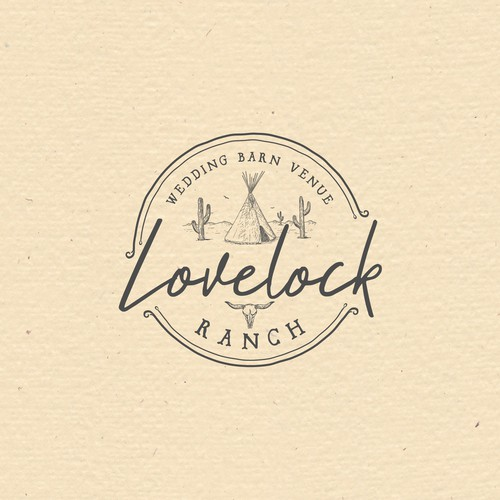 Barn logo with the title 'Western/boh logo for wedding barn'