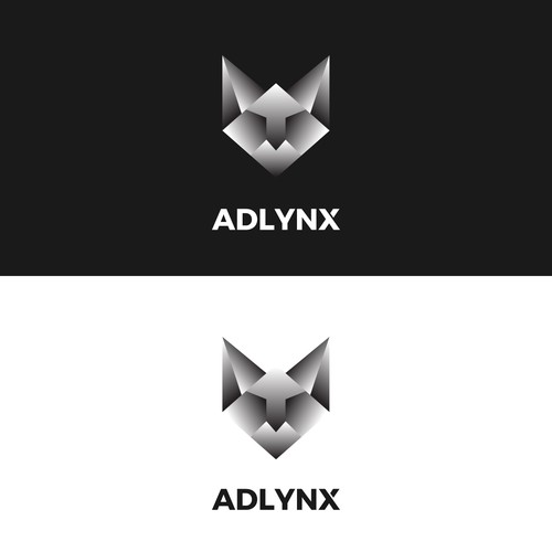 Lynx design with the title 'Logo design for online marketing agency'