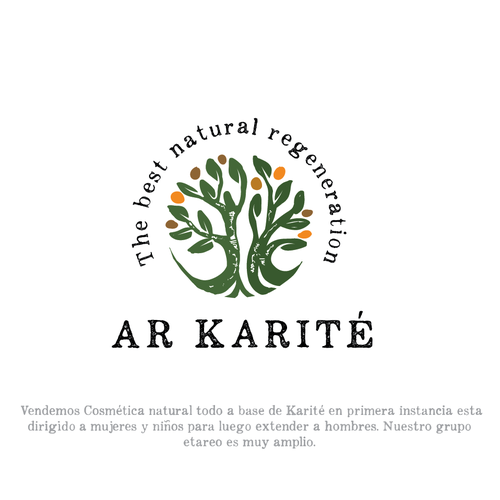 Oil logo with the title 'Karité'