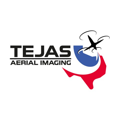 Drone photography logo with the title 'Tejas Aerial Imaging'