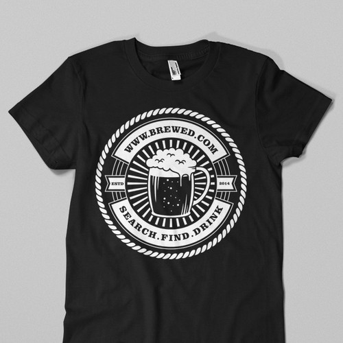 Drink t-shirt with the title 'Create designer t-shirts for beer lovers'