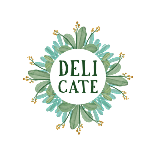 Salad logo with the title 'Fresh watercolor Logo for a salad bar'