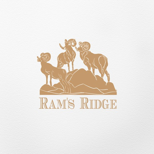 Ridge logo with the title 'logo for a boutique winery in California'