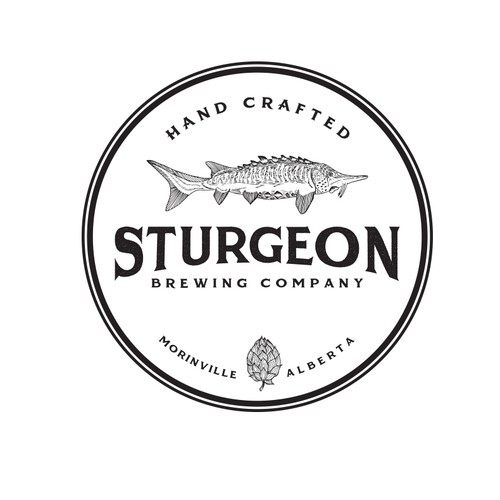Sketch brand with the title 'Hand-drawn logo for a brewing company '