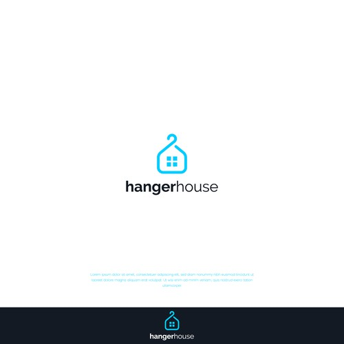 Hanger logo with the title 'Hanger House'