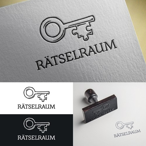 Escape room design with the title 'Logo concept for Mystery Room'