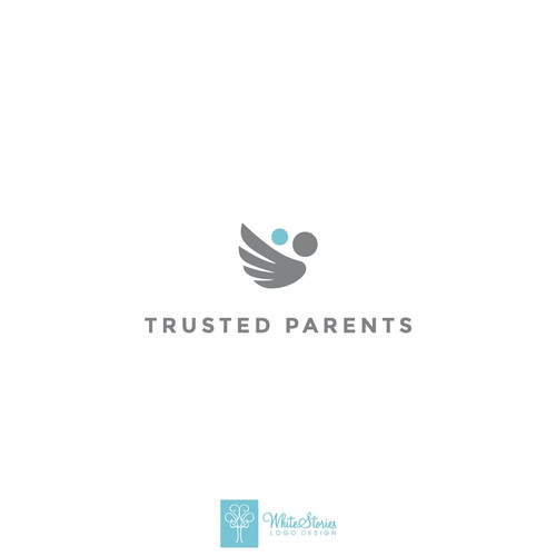 Trust logo with the title 'Modern and Clean logo'