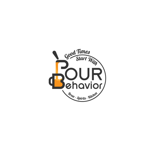Beer tap logo with the title 'Pour Behavior tap logo'