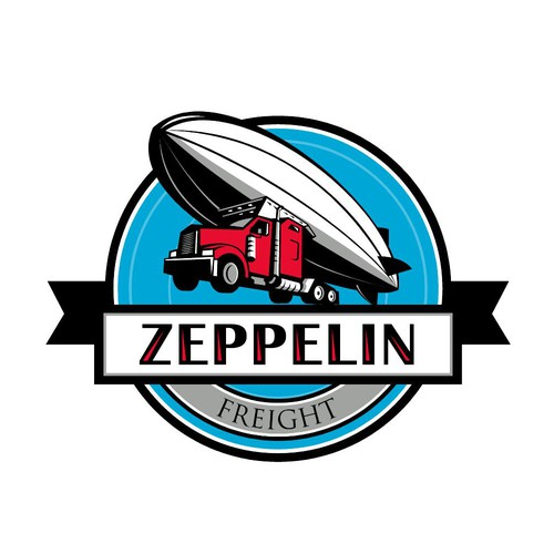 Tractor design with the title 'Zeppelin Freight'