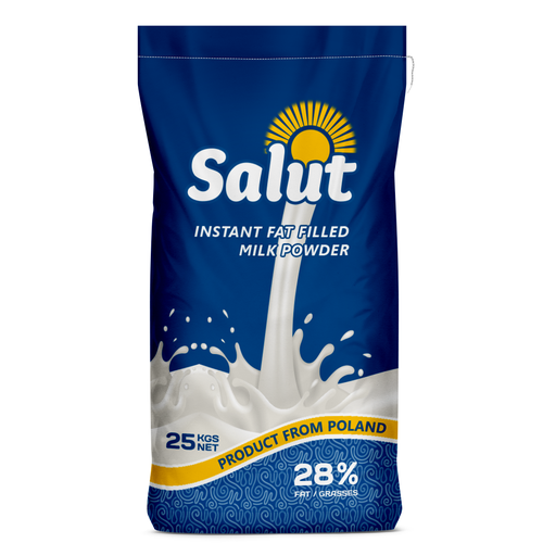 Logo packaging with the title 'Milk powder bag'