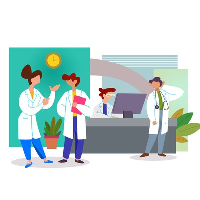 Illustration for login page on Medical Website