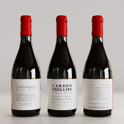 Typographic label with the title 'minimal  typographic wine label '