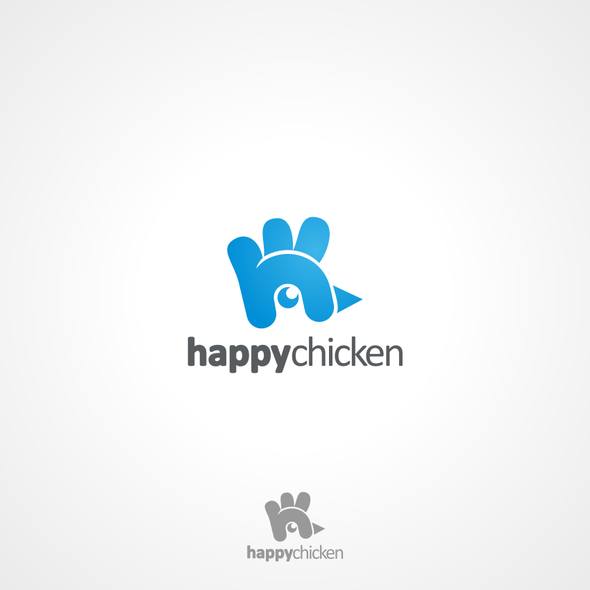 Chick logo with the title 'Create the next logo for Happy Chicken'