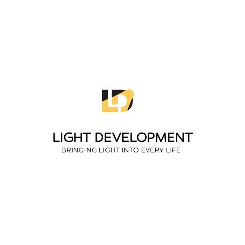 Lightning design with the title 'Logo for Light Development's Clean energy job training program'