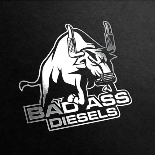 Rodeo logo with the title 'Badass logo for Badass Diesels'