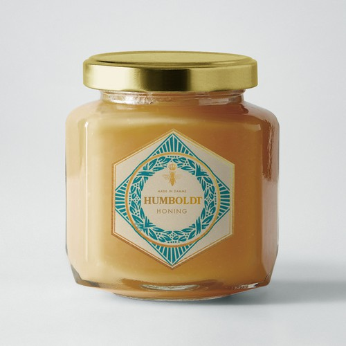 Sophisticated label with the title 'honey label concept'