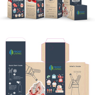 Whipped Cream Dispenser Packaging Design