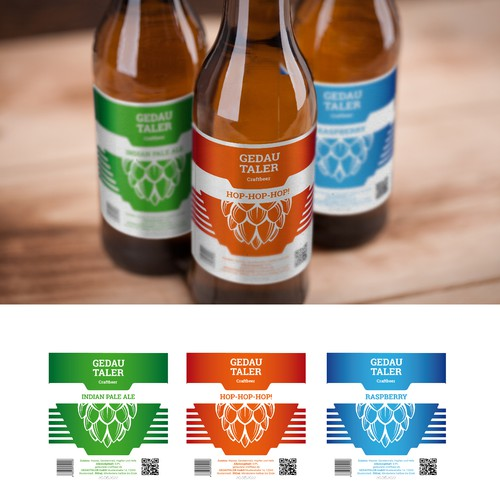 Modern label with the title 'Packaging design for Craftbeer'