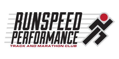 Marathon design with the title 'Create a championship logo for our Run Speed Performance track club.'