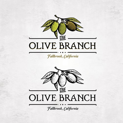 Olive logo with the title 'Olive Branch'