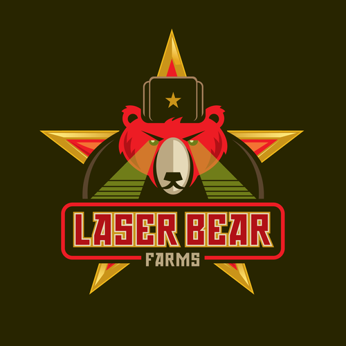 Russian logo with the title 'Laser Bear Farms'