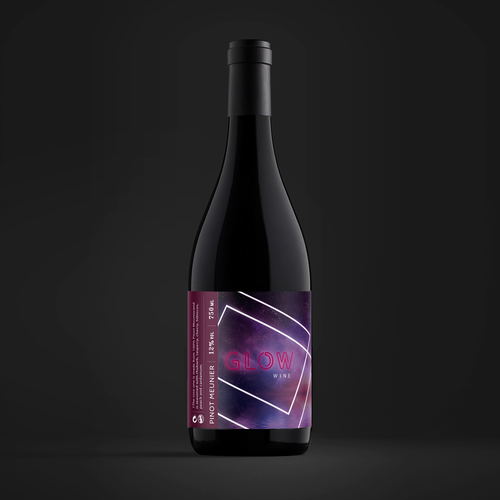 Winery label with the title 'Glow Wine'