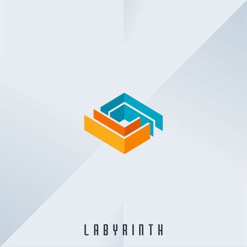 Labyrinth logo with the title 'Fun & Futuristic Logo for Labyrinth Family Recreational'
