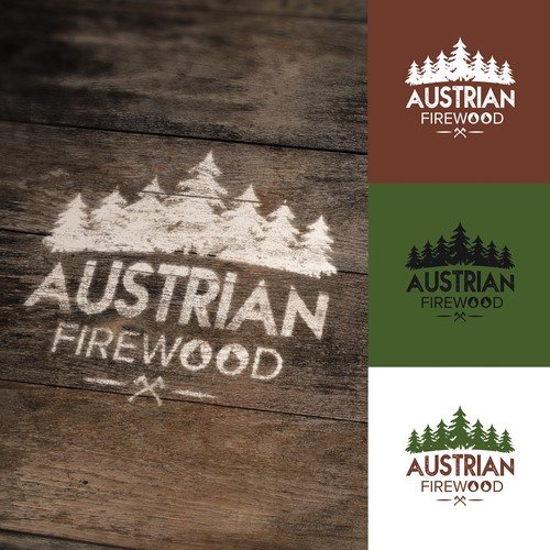 Log logo with the title 'AUSTRIAN FIREWOOD Logo'